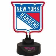 New York Rangers Team Logo Neon Light