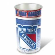 New York Rangers Metal Wastebasket