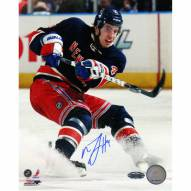 """New York Rangers Michael Del Zotto Skating in Navy Jersey Signed 16"""" x 20"""" Photo"""