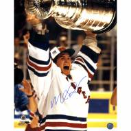 """New York Rangers Mike Richter 1994 Cup Over Head Signed 16"""" x 20"""" Photo"""