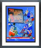 New York Rangers Mike Richter All-Time Wins Leaders Composite Framed Photo