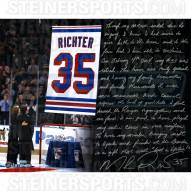 """New York Rangers Mike Richter Retirement Night Story Signed 16"""" x 20"""" Photo"""