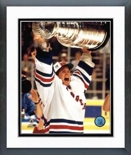 New York Rangers Mike Richter With Cup Framed Photo