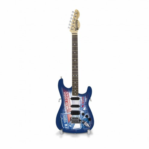 New York Rangers Mini Collectible Guitar