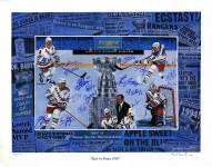 New York Rangers Multi Signed 'Rest in Peace 1940' Robert Steven Simon 26x34 Lithograph (17 Sigs)