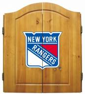 New York Rangers NHL Complete Dart Board Cabinet Set