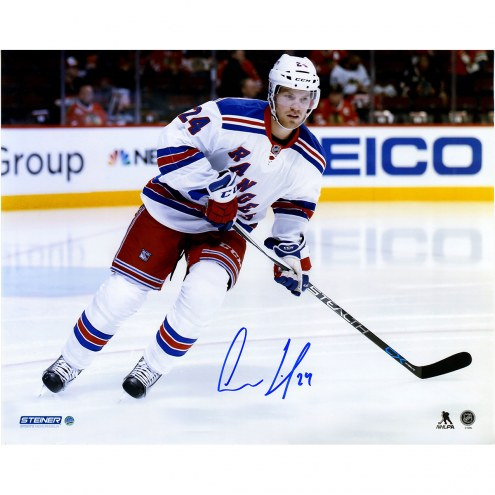 "New York Rangers Oscar Lindberg Skating Away Signed 16"" x 20"" Photo"