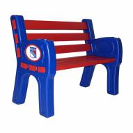 New York Rangers Park Bench