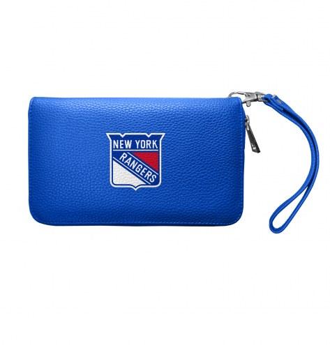New York Rangers Pebble Organizer Wallet