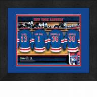 New York Rangers Personalized Locker Room 13 x 16 Framed Photograph