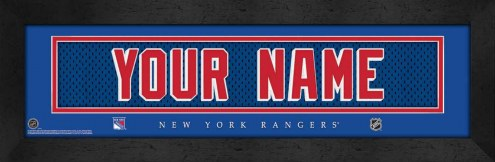 New York Rangers Personalized Stitched Jersey Print