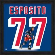 New York Rangers Phil Esposito Uniframe Framed Jersey Photo