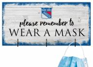 New York Rangers Please Wear Your Mask Sign