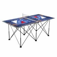 New York Rangers Pop Up 6' Ping Pong Table