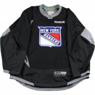 New York Rangers Practice Used Shield Black Jersey (Size 56)