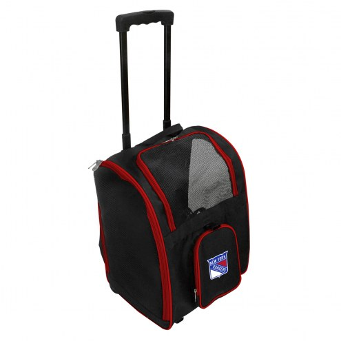 New York Rangers Premium Pet Carrier with Wheels