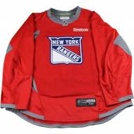 New York Rangers Red Used Shield Logo Practice Jersey (Size 56)