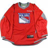 New York Rangers Red Used Shield Logo Practice Jersey (Size 58)