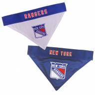 New York Rangers Reversible Dog Bandana