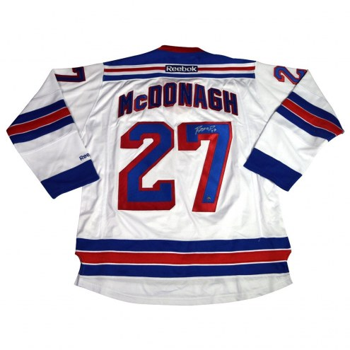 New York Rangers Ryan McDonagh Signed White Premier Jersey w/ Captain C