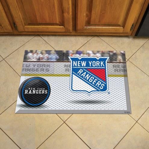 New York Rangers Scraper Door Mat