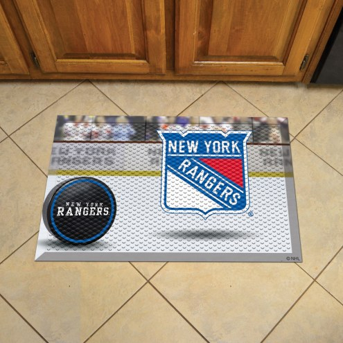 New York Rangers Scraper Door Mat