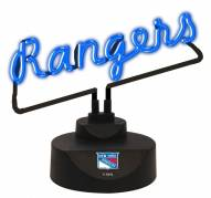 New York Rangers Script Neon Desk Lamp