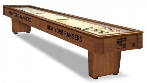 New York Rangers Shuffleboard Table