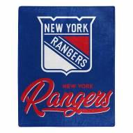 New York Rangers Signature Raschel Throw Blanket