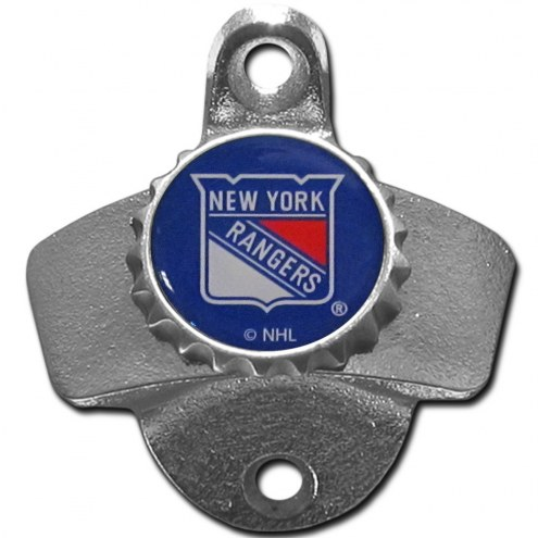 New York Rangers Wall Mounted Bottle Opener