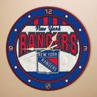 New York Rangers Stained Glass Wall Clock
