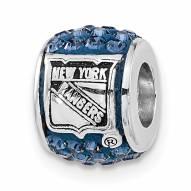 New York Rangers Sterling Silver Charm Bead