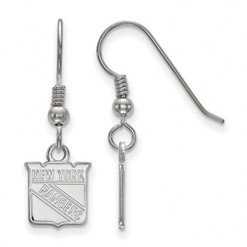New York Rangers Sterling Silver Extra Small Dangle Earrings