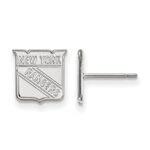New York Rangers Sterling Silver Extra Small Post Earrings
