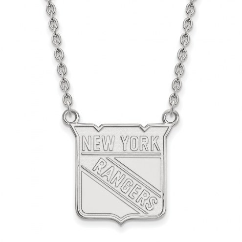 New York Rangers Sterling Silver Large Pendant Necklace