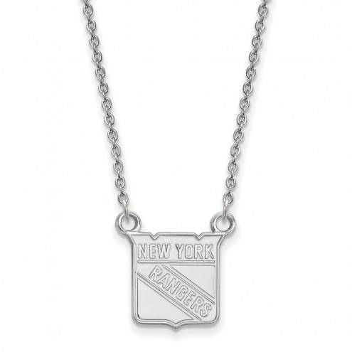 New York Rangers Sterling Silver Small Pendant Necklace