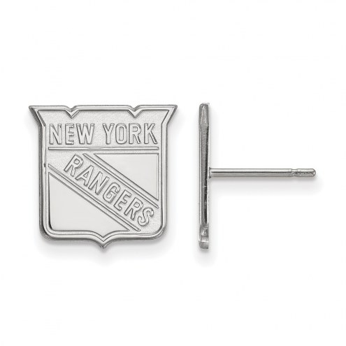 New York Rangers Sterling Silver Small Post Earrings