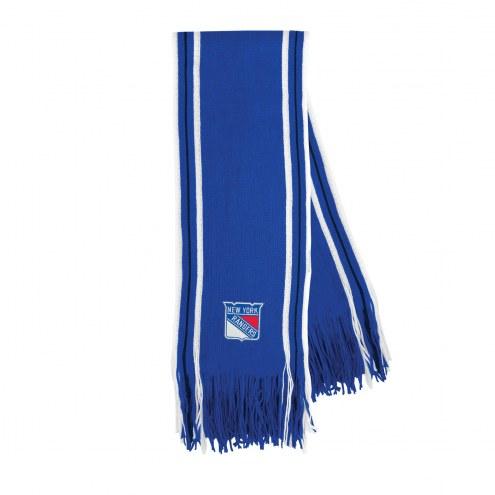 New York Rangers Stripe Fringe Scarf