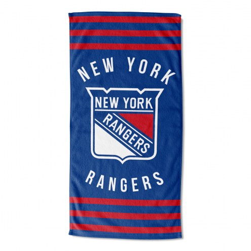 New York Rangers Stripes Beach Towel