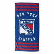 New York Rangers Stripes Beach Towel