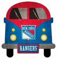 New York Rangers Team Bus Sign