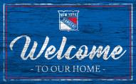 New York Rangers Team Color Welcome Sign