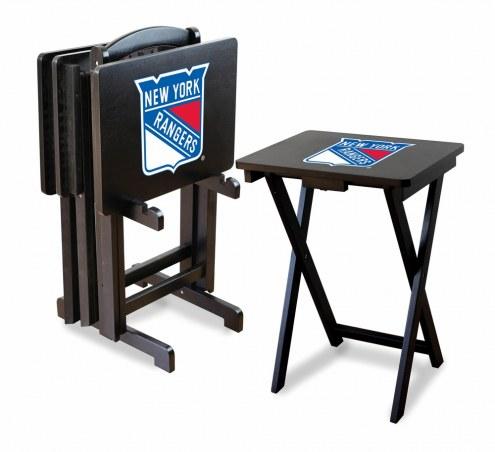 New York Rangers TV Trays - Set of 4