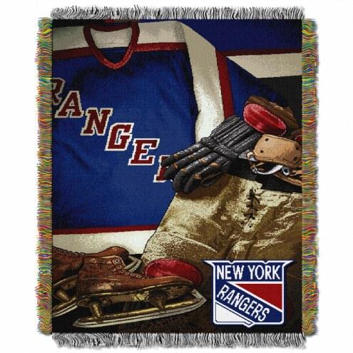 New York Rangers Vintage Throw Blanket