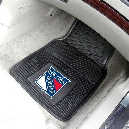 New York Rangers Vinyl 2-Piece Car Floor Mats