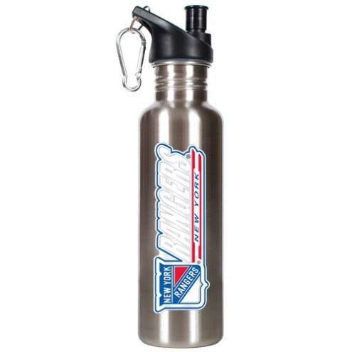 New York Rangers 26 oz. Water Bottle with Pop-Up Spout