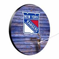 New York Rangers Weathered Design Hook & Ring Game