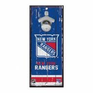 New York Rangers Wood Bottle Opener