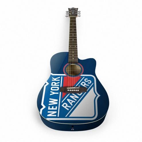 New York Rangers Woodrow Acoustic Guitar
