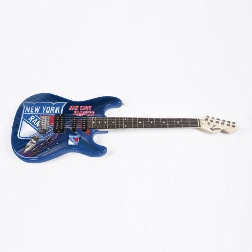 New York Rangers Woodrow Northender Electric Guitar